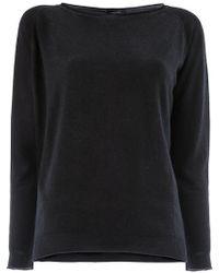 Avant Toi - Slash Neck Sweater - Lyst