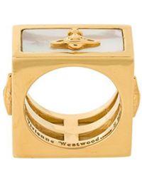 Vivienne Westwood Red Label | Saturn Motif Square Ring | Lyst