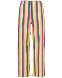 STAUD - Maui Striped Cotton Cropped Trousers - Lyst