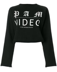 P.a.m. Perks And Mini - Printed Cropped Sweatshirt - Lyst