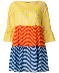 House of Holland - Colour Block Pleated Dress - Lyst