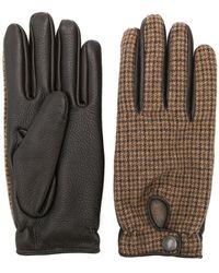 Lardini - Karierte Tweed-Handschuhe - Lyst
