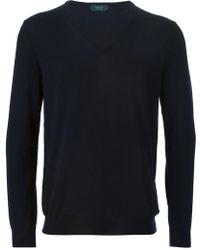 Zanone - V-neck Sweater - Lyst