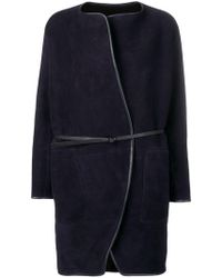 Vanessa Bruno - Belted Shearling Coat - Lyst