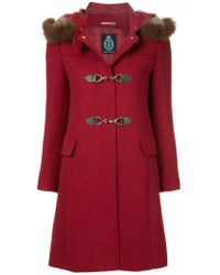 Guild Prime - Fur Collar Double Breasted Coat - Lyst
