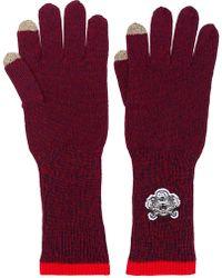 KENZO - Logo Gloves - Lyst