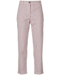 PS by Paul Smith - Checked Cropped Trousers - Lyst