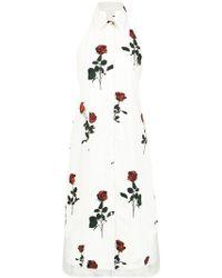 Osklen - Roses Print A-line Dress - Lyst