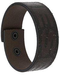 DIESEL - Logo Cuff Bracelet - Lyst