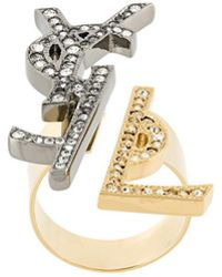 Saint Laurent | Ysl Monogram Deconstructed Ring | Lyst