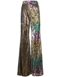Halpern - Sequinned Flared Trousers - Lyst