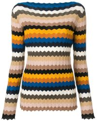 Roberto Collina - Striped Fitted Sweater - Lyst