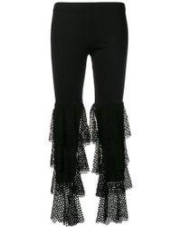 Gaëlle Bonheur - Tiered Mesh Detail leggings - Lyst