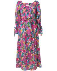 LaDoubleJ - Long Sleeve Printed Dress - Lyst