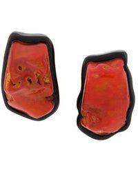 Monies - Asymmetric Two-tone Earrings - Lyst
