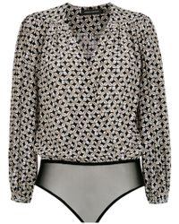 Andrea Marques - Printed Bodysuit - Lyst