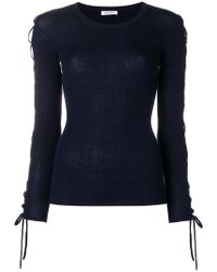 P.A.R.O.S.H. - Laced Sleeves Knitted Top - Lyst
