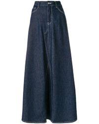 MM6 by Maison Martin Margiela   Denim Maxi Skirt   Lyst