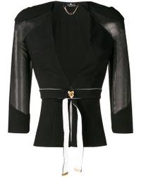 Elisabetta Franchi - Belted Fitted Jacket - Lyst