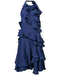 halterneck ruffled dress - Blue Maison Rabih Kayrouz vxmDQkGE