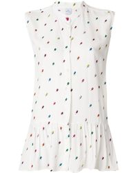 PS by Paul Smith - Printed Sleeveless Blouse - Lyst