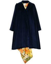 Richard Quinn - Floral Lined Oversized Coat - Lyst