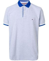 Tommy Hilfiger - Logo Embroidered Polo Shirt - Lyst