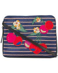 Lizzie Fortunato - Cherry Patch Clutch Bag - Lyst
