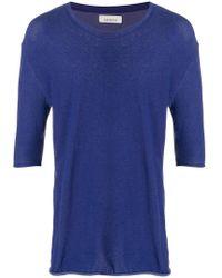 Laneus - 3/4 Sleeve T-shirt - Lyst