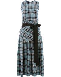 Sara Lanzi - Check Dress - Lyst