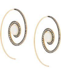 Noor Fares - Spiral Moon Earrings - Lyst
