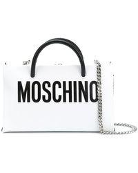Moschino - Front Logo Shoulder Purse - Lyst
