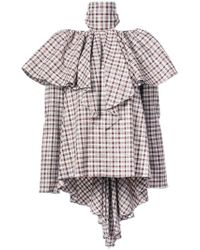 Rosie Assoulin - Chequered Ruffled Blouse - Lyst