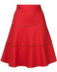 RED Valentino - A-line Flared Skirt - Lyst