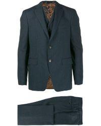 Etro - Dreiteiliger Anzug mit Streifen - Lyst