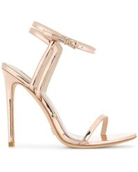 Gianni Renzi - Metallic Stiletto Sandals - Lyst