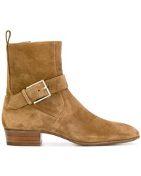 Represent - Buckled Fitted Boots - Lyst