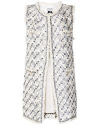 Edward Achour Paris - Sleeveless Tweed Coat - Lyst