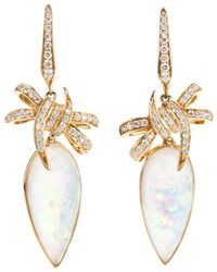 Stephen Webster - 'forget Me Knot' Quartz And Diamond Bow Earrings - Lyst