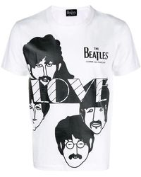 165409059 Comme des Garçons Cdg X The Beatles Union Jack T-shirt in White for ...