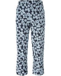 Julien David - Cropped Floral Trousers - Lyst
