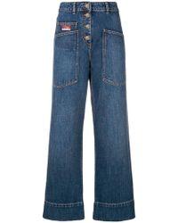 KENZO - Wide Leg Jeans - Lyst