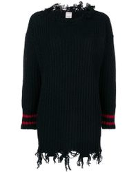 Pinko - Frayed Hem Knitted Dress - Lyst