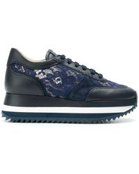 Le Silla | Lace-panelled Sneakers | Lyst