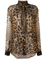 Saint Laurent - Leopard-print Shirt - Lyst