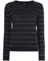 Loveless - Striped Lurex Sweater - Lyst