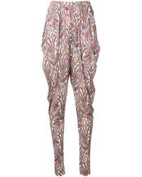 Isabel Marant Pantalones holgados con estampado de cashmere