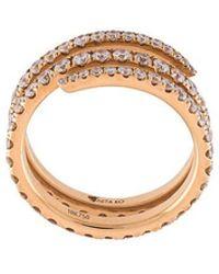 Anita Ko - Diamond Coil Ring - Lyst
