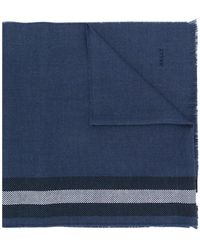 Bally - Striped Knitted Scarf - Lyst