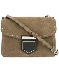 Lyst - Givenchy Nobile Small Beige Leather Shoulder Bag in Natural af141af4cfee6